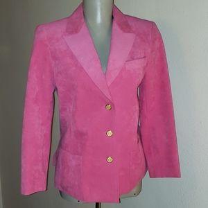 Abe Schrader Petite pink ultra suede jacket. Sz 4p